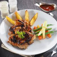 Double Chicken Steak with Potato Wedges