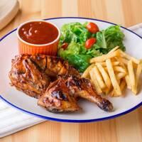 Roast spring chicken